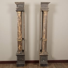 Photo of antique Pair French Columns with Corner Pieces