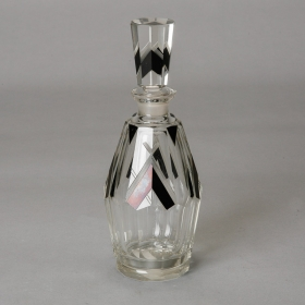 Photo of antique Karl Palda Style Bohemian Glass Art Deco Decanter
